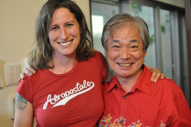 Krista with Miyagi- sensei