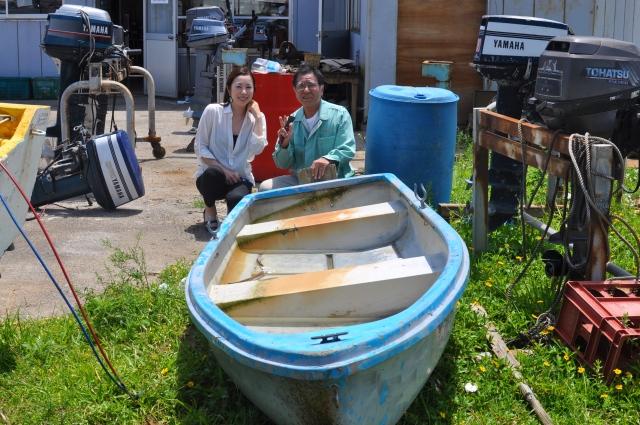 Ikeda san and Chinen san and my boat.
