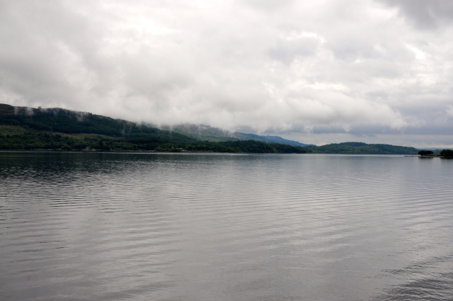 Loch Lomond is cloudy with drizzle
