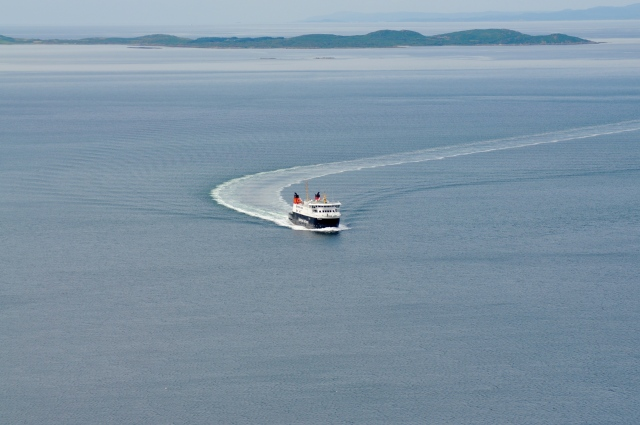 The Islay boat passes Gigha