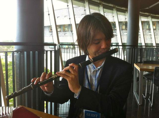 He also played on my flute on a previous occasion