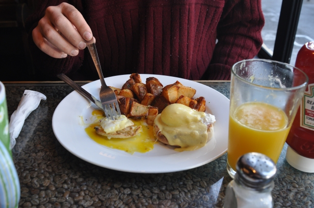 Eggs Benedict - it was Ben's birthday on Wednesday and we are still celebrating