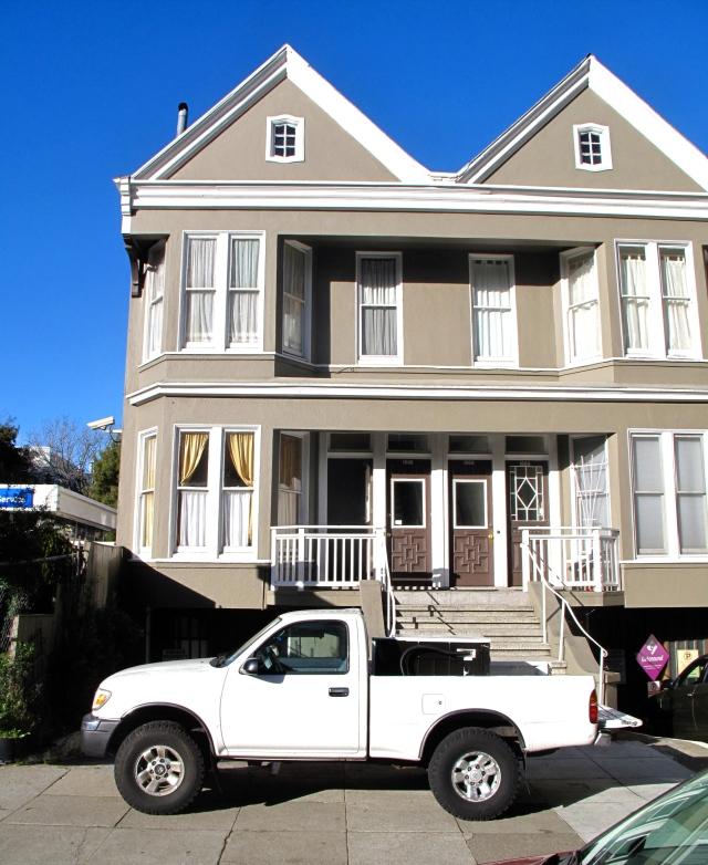 Polar vortex at the house in San Francisco