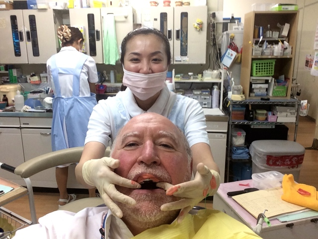 The dentist here is such fun!