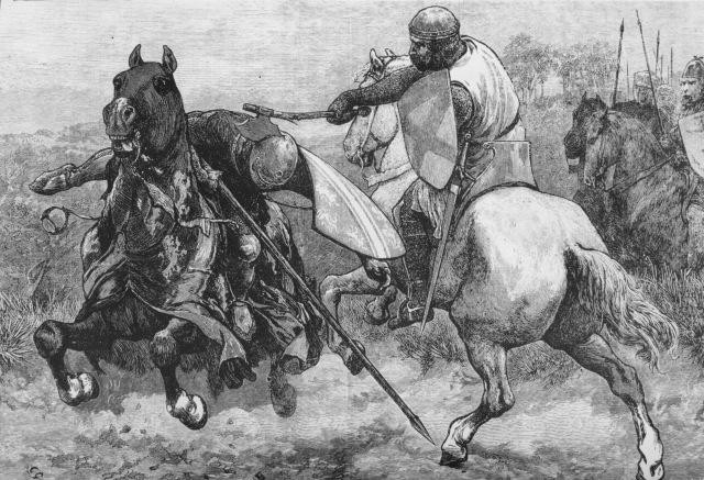 Death of de Bohun  as pre battle entertainment. This was before Cheerleaders