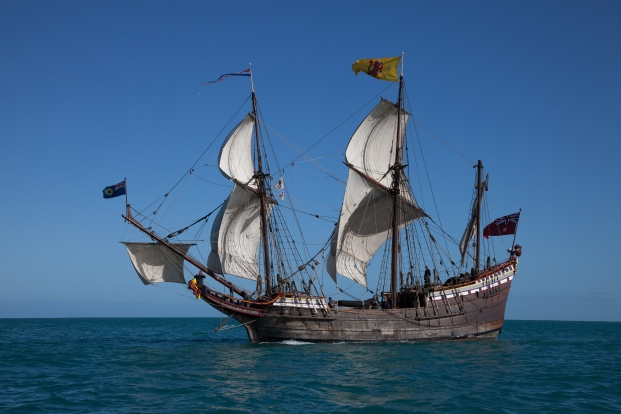 This is she under full sail.