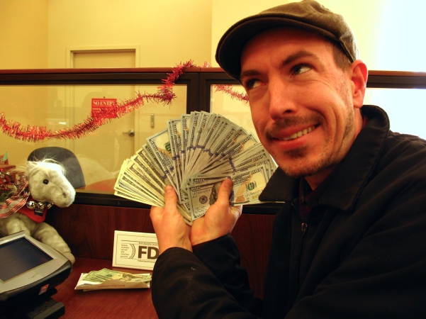 All $100 bills!