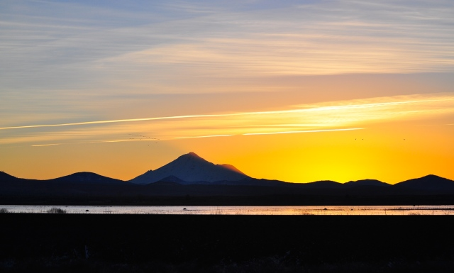 First sunset of 2015, just a couple of miles from the Oregon border.