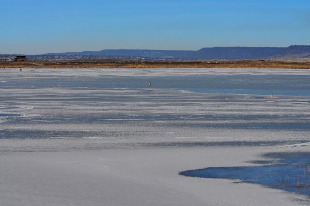 Deep frozen Modoc lakes.