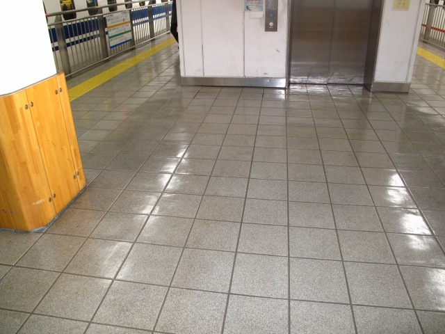 The platform at Fukuoka station