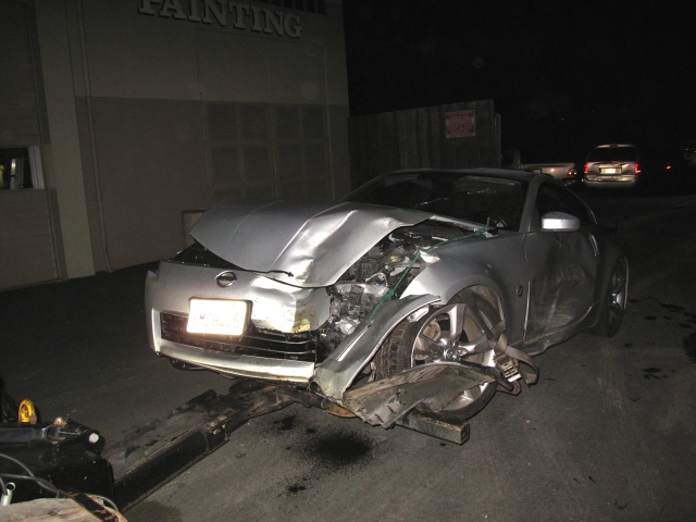 All the damage was on the driver's side.