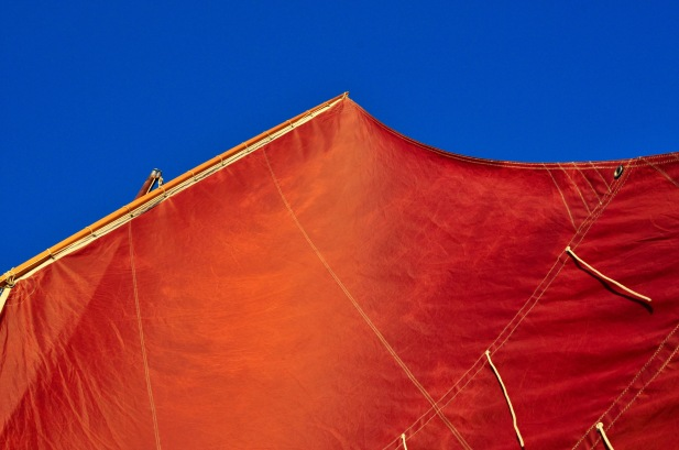 Red Sail in the sunset