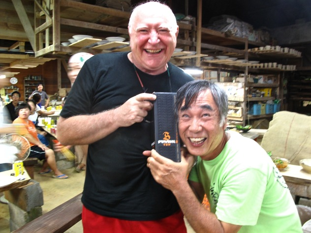 The other Matsuda  sensei is happy because I give him a bottle of Springbank.