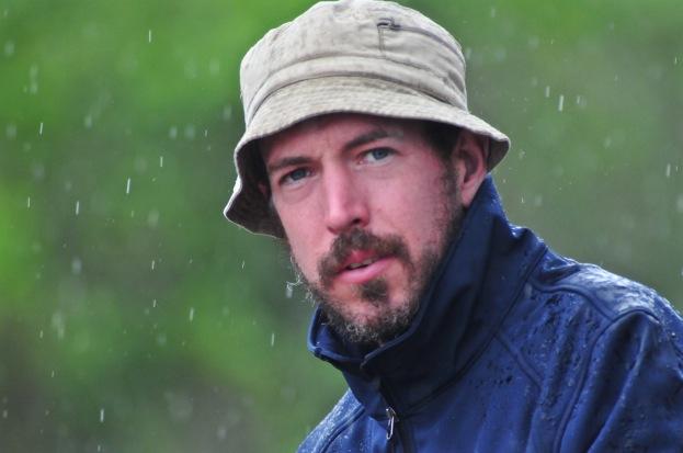 James in the rain